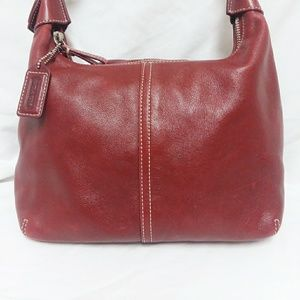 Coach Red Leather Legacy Hobo Bag